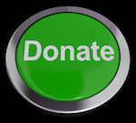 Donate Button Green Showing Charity And Fundraising