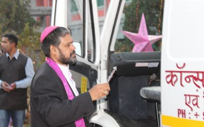 Blessing of New Ambulance by Bishop Theodore